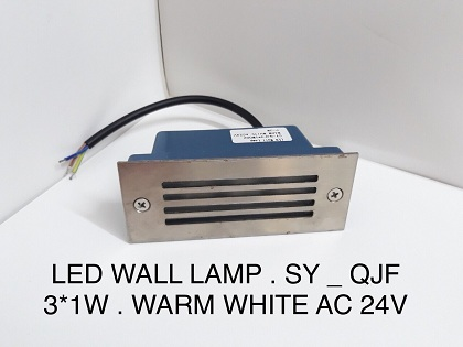 LED WALL LAMP SYQJ3*1W002-24V AS VÀNG