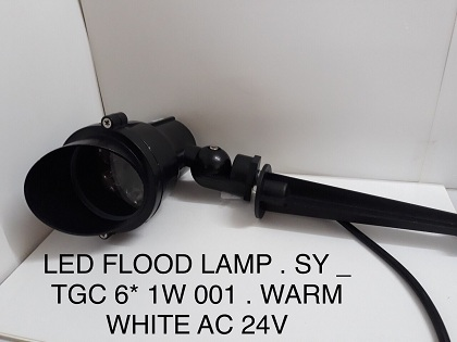 LED FLOOD LAMP SY TGC6*1W001 AS VÀNG 24V