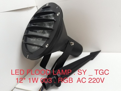 LED FLOOD LAMP SY TGC12*1W003 RGB